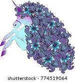 a beautiful unusual unicorn... | Shutterstock .eps vector #774519064