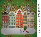 vector illustration. winter... | Shutterstock .eps vector #774519628