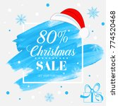 christmas sale 80  off sign... | Shutterstock .eps vector #774520468