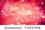 beautiful shiny hearts and... | Shutterstock . vector #774527698