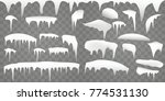 set of realistic borders with...   Shutterstock .eps vector #774531130