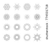 firework line icon set  vector... | Shutterstock .eps vector #774531718