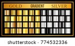 big collection of round gold... | Shutterstock .eps vector #774532336