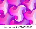 abstract 3d vector horizontal...