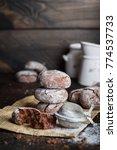 deliciouse homemade chocolate... | Shutterstock . vector #774537733