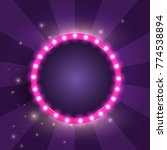 round retro frame with lights.... | Shutterstock .eps vector #774538894