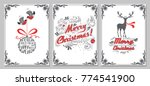 christmas and new year greeting ... | Shutterstock .eps vector #774541900