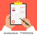 doctor holding medical... | Shutterstock .eps vector #774542326