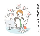 vector illustration businessman ... | Shutterstock .eps vector #774551038