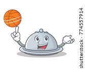 with basketball tray character... | Shutterstock .eps vector #774557914