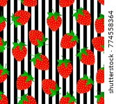 ripe juicy strawberries on... | Shutterstock .eps vector #774558364