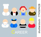 the career or occupacy or job... | Shutterstock .eps vector #774569428