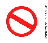 red forbidden sign   thick lines | Shutterstock .eps vector #774571084