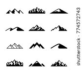 mountains  rocks and peaks.... | Shutterstock .eps vector #774572743