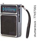 Vintage Black Transistor Radio...