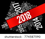 2018 happy new year and... | Shutterstock .eps vector #774587590
