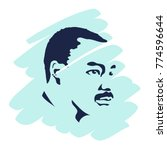 martin luther king day flyer ... | Shutterstock .eps vector #774596644