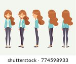 pretty woman for animation... | Shutterstock .eps vector #774598933