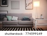 interior of living room with... | Shutterstock . vector #774599149