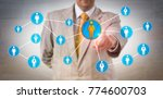 unrecognizable male business... | Shutterstock . vector #774600703