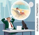 office worker or employee...   Shutterstock .eps vector #774606013