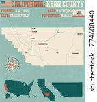 large and detailed map of kern... | Shutterstock .eps vector #774608440