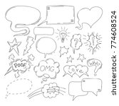 set of comic speech bubbles.... | Shutterstock .eps vector #774608524