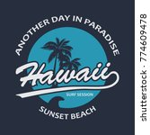 hawaii vintage t shirt design... | Shutterstock .eps vector #774609478