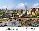 broken ceramic mosaic tile ... | Shutterstock . vector #774610264