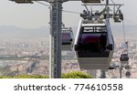 cable cars operating with a... | Shutterstock . vector #774610558
