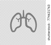 lungs vector icon eps 10. lung... | Shutterstock .eps vector #774621763