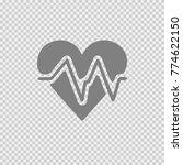 heart vector icon with ecg... | Shutterstock .eps vector #774622150