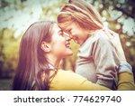 mother and daughter spending... | Shutterstock . vector #774629740
