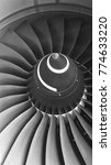 aircraft engine black and white