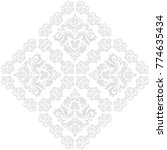 oriental vector pattern with... | Shutterstock .eps vector #774635434