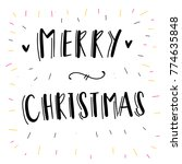merry christmas and happy new... | Shutterstock .eps vector #774635848