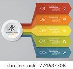 5 steps infographics element...   Shutterstock .eps vector #774637708