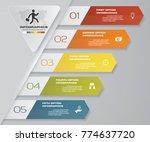modern 5 options presentation... | Shutterstock .eps vector #774637720