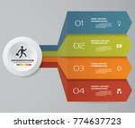 4 steps infographics element... | Shutterstock .eps vector #774637723