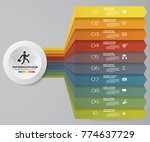 10 steps infographics element... | Shutterstock .eps vector #774637729