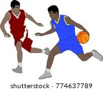 basketball players illustration ... | Shutterstock .eps vector #774637789