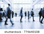 blurred people walking in a... | Shutterstock . vector #774640108