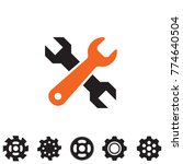 service tools icons isolated on ... | Shutterstock .eps vector #774640504