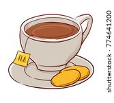 vector illustration of a cup of ... | Shutterstock .eps vector #774641200