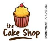 vector illustration of muffin...   Shutterstock .eps vector #774641203