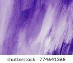ultra violet abstract hand... | Shutterstock . vector #774641368