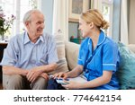 female community nurse visits... | Shutterstock . vector #774642154