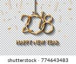 2018 happy new year design for... | Shutterstock .eps vector #774643483