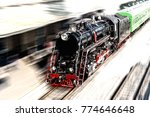 toned. old black and red steam... | Shutterstock . vector #774646648