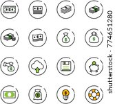 line vector icon set   dollar...